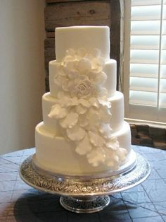 Cascading Rose Wedding Cake By tcakes65 on CakeCentral.com