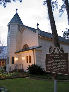 Christ Episcopal Church, Covington, Louisiana - where my aunt n uncle got married...I was a brides maid...