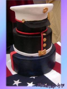 Marine Corp Dress Blues cake! So cool!