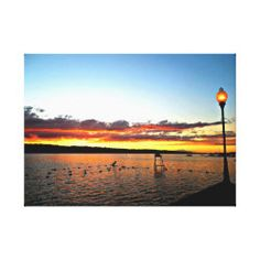 Sunset over the Lake Wall Art