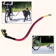 Bike Tow Leash Dog Bicycle Attachment