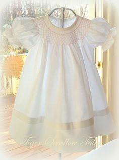 Beautiful white smocked dress - for Laura and cams wedding Toddler Dress, Baby Dress, Dress Girl, Smocked Baby Clothes, Smocked Dresses, Little Girl Dresses, Girls Dresses, Smocks, Christening Gowns