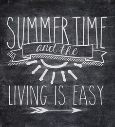 Free Summertime Chalkboard Printable /// Simple 8x10 design /// Instant download