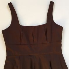Calvin Klein dress Beautiful Audrey Hepburn-esque cotton/spandex dress with side zipper. Pleating on skirt makes it twirl-worthy. Perfect with something over it now or on its own in the spring and summer. One very small (almost unnoticeable) discoloration by zipper - see pic. Excellent condition. Smoke-free/pet-free home. Calvin Klein Dresses
