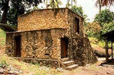 Pirate History ~ St. Lucia ~ Caribbean...Stone house on pidgeon island