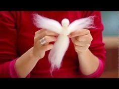 Christmas angel Fair Needle felted with Lights Waldorf doll Christmas lamp Decoration Art doll Christmas Crafts To Make, Christmas Angels, Christmas Lamp, Felt Crafts, Fabric Crafts, Felt Angel, Wool Dolls, Needle Felting Kits, Felt Owls