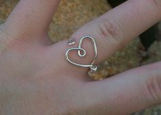 wire heart rings, by jelysm 93 $2.75