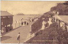 FOLKESTONE, NEW MARINE WALK - 1913 POSTCARD (ref 6762/13P)