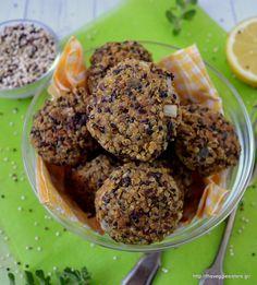 Κεφτεδάκια με κινόα κ πορτσίνι - Porcini quinoa balls