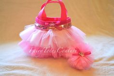 PRINCESS MINI TUTU TOTE & TULLE HAIR BOW POOF GIFT SET - Party Favor