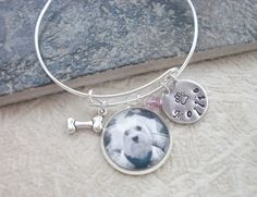 Pet Adustable Bangle Bracelet - Favorite Pet or In Remembrance - Custom Photo - Personalized on Etsy, $26.00