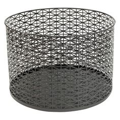 Decorative Bin RE Metal Grey - turn upside down for possible table?