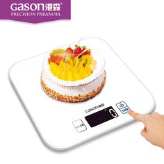 Gason C1 15kg black white balance digital electronic food kitchen scale weight household scales steelyard 1g gram table tools slow cooker