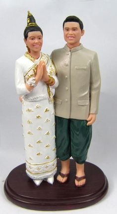 Laotian Wedding Cake Topper.....    WOW can't believe there is one for my peoples!!