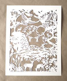 anniversary papercut by woodland papercuts, via Flickr
