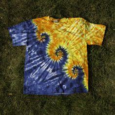 Rainbow Moon Tie Dye - Men's Tie Dyed Short-Sleeved Tee Shirts