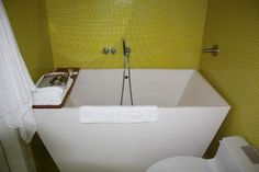Japanese style soaking tub in a wet room home bathrooms pinterest wet rooms japanese - Deep tubs for small spaces concept ...