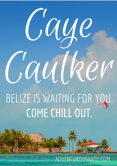 Caye Caulker, Belize, is waiting for you! via Adventurous Kate Belize Vacations, Belize Travel, Belize Honeymoon, Places To Travel, Places To Go, Slow Travel, Travel Tips, Little Island, Belize