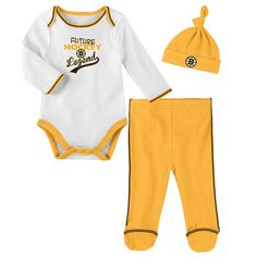 Baby & Toddler Clothing Sporting Goods Devoted Nhl Boston Bruins Bodysuit Romper Jumpsuit Outfits 3 Piece Set Newborn Kids
