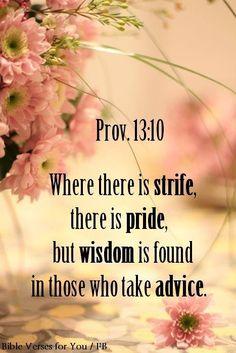 Prov. 13:10