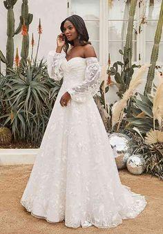 Wedding Dresses Plus Size, Bridal Wedding Dresses, Dream Wedding Dresses, Affordable Wedding Dresses, Bridesmaid Gowns, Boho Gown, Off Shoulder Fashion, Wedding Dress Shopping, Bride Look