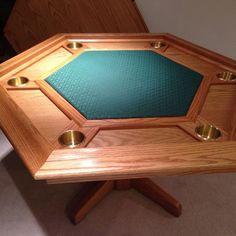 Custom Made Oak Poker Table
