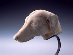 Late Classical Greek Marble Head of a Dog Marble, Late 4th century B.C.E., Attic
