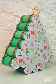 …de créer : Le calendrier de l'avent en rouleaux de papier toilette… le retour ! Handmade Christmas Decorations, Easy Christmas Crafts, Christmas Countdown, Christmas Elf, Simple Christmas, Christmas Ornaments, Christmas Ideas, Diy Advent Calendar, Christmas Traditions