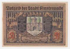 Alemanha 1921 - NOTGELD de 50 Pfennig da cidade de Fisnsterwalde, utilizada no período inflacionário