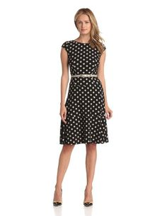 Amazon.com: Anne Klein Women's Dime Dot Swing Dress: Clothing