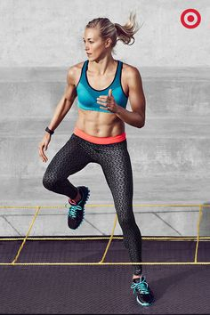 Stay light on your toes and comfortable in your clothes with the C9 Champion Advanced Performance Tight Leggings in cool prints and the C9 Champion Seamless Bra.