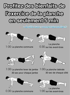 Quelles sont les variations de l'exercice de la planche ?