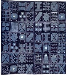Africa | Wrapper from the Yoruba people of Nigeria | Mid 20th century | Cotton and locally made indigo dye.