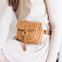 Lionel Handbags Marie Belt Bag In Cognac Ahhh What A Cute Take On The