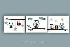 Nursery decor Nursery print Boys room prints by MuddyPuddlePrints, $32.00