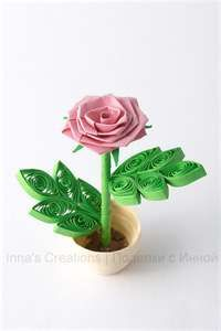 Quilling and paper rose