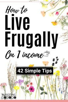 How To Live Frugally On One Income (or Simple Tips If you're struggling to save money every month and feel stuck in the paycheck to paycheck lifestyle this is a must read! Start to easily live frugally when you utilize these epic frugal tips and id Living On A Budget, Frugal Living Tips, Frugal Tips, Simple Living, Ways To Save Money, Money Tips, Money Saving Tips, Money Budget, Money Hacks