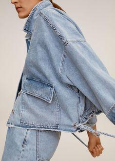 Coats For Women, Jackets For Women, Denim Button Up, Button Up Shirts, Mango France, Mode Jeans, Denim Fashion, Womens Fashion, Cute Comfy Outfits