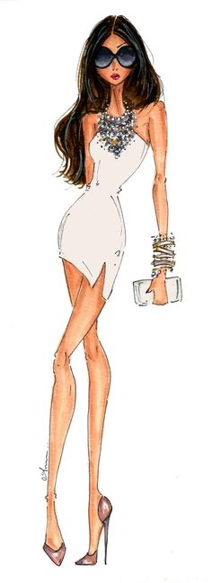 Fashion Illustration by Anum Tariq~❥ http://freesextoday.yolasite.com/ #sexy girl illustration#