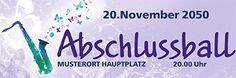 Moderne Abschlussball Banner von www.onlineprintxxl.com #banner #bannerdesign #abschlussball #abiball #abiturball #werbebanner