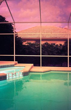 David Lynch meets Club Tropicana – the mystical half-life of Nadja Staubli's photographs Jessie Ware, Club Tropicana, Berlin, Neon Noir, Something About You, My Pool, Saturated Color, Architecture, Summer Vibes