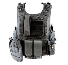 Diamond Tactical MOLLE StrikeForce Modular Plate Carrier Loaded w/ 6 Integrated Pouches & Armor Plate Ready - Ultra High Quality Operator Grade 600D Rugged Construction - BLACK by Diamond, http://www.amazon.com/dp/B005CK1EBM/ref=cm_sw_r_pi_dp_wt4Mpb039RQBM:
