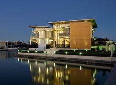 Allegra House // TLC Homes & Think Design Studio // Gold Coast // Queensland Luxury Cabin, Luxury Homes Dream Houses, Luxury House Plans, Luxury Homes Interior, Luxury Apartments, Interior Design, Dream Homes, Kb Homes, Waterfront Property