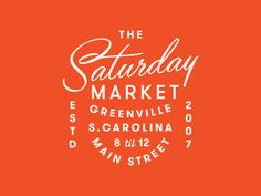 Greenville Market designed by Jacob Boyles. Connect with them on Dribbble; the global community for designers and creative professionals. Graphic Design Brochure, Design Logo, Badge Design, Business Logo Design, Logo Design Services, Lettering Design, Layout Design, Branding Design, Type Design