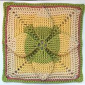 """Ravelry: Summer Solstice 9""""/12"""" Afghan Block Square pattern by Margaret MacInnis"""