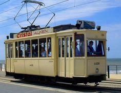 Vintage Tram no. 4408 in Belgium
