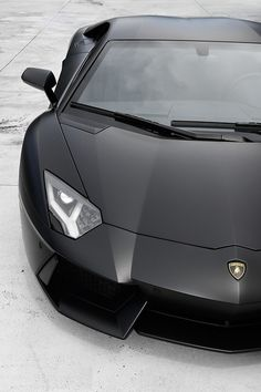 Matte black Lamborghini Aventador #CarFlash