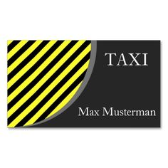 TAXI visiting cards Business Cards. I love this design! It is available for customization or ready to buy as is. All you need is to add your business info to this template then place the order. It will ship within 24 hours. Just click the image to make your own!