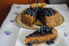 Nyersvegán almás-mákos-áfonyás torta recept tálalva Cheesecake, Muffin, Breakfast, Almond Milk, Cranberry Cake, Dessert Ideas, Apple, Morning Coffee, Cheesecakes