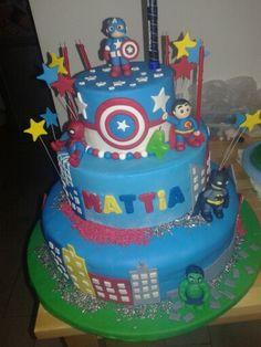 Torta Mini super eroi